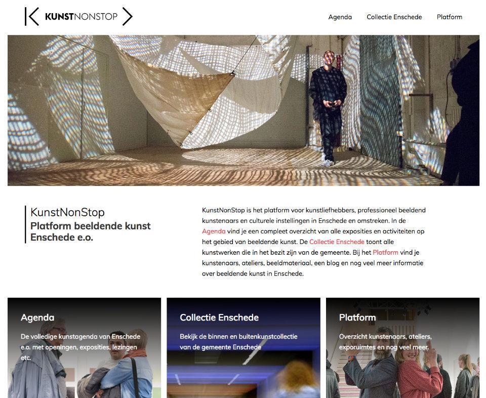 Kunstnonstop website
